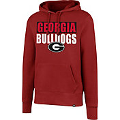 '47 Men's Georgia Bulldogs Red Headline Pullover Hoodie