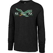 '47 Men's Philadelphia Eagles Fly Eagles Fly Black Long Sleeve Shirt