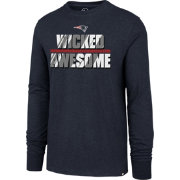 '47 Men's New England Patriots Wicked Awesome Navy Long Sleeve Shirt