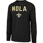 '47 Men's New Orleans Saints Nola Black Long Sleeve Shirt