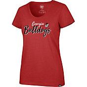 '47 Women's Georgia Bulldogs Red Scoop Neck T-Shirt
