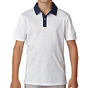 adidas Boys' Micro Dot Print Golf Polo