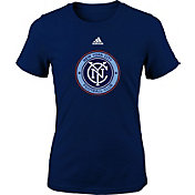 adidas Youth Girls' New York City FC Logo Navy T-Shirt