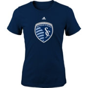 adidas Youth Girls' Sporting Kansas City Logo Navy T-Shirt