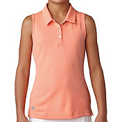 adidas Girls' Performance Sleeveless Golf Polo