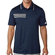adidas Men's 3-Stripes Pique Golf Polo