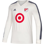 adidas Men's 2018 MLS All-Star Game Training White Performance Long Sleeve Shirt