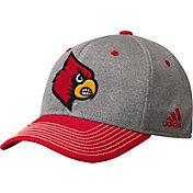 adidas Men's Louisville Cardinals Grey/Cardinal Red Structured Adjustable Hat