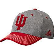 adidas Men's Indiana Hoosiers Grey/Crimson Structured Adjustable Hat
