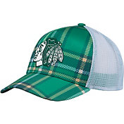 adidas Men's 2018 St. Patrick's Day Chicago Blackhawks Structured Green Adjustable Hat