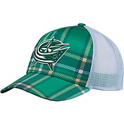 adidas Men's 2018 St. Patrick's Day Columbus Blue Jackets Structured Green Adjustable Hat