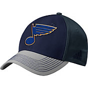 adidas Men's St. Louis Blues Structured Blue Flex Hat