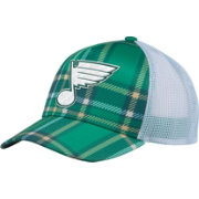 adidas Men's 2018 St. Patrick's Day St. Louis Blues Structured Green Adjustable Hat