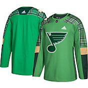 adidas Men's 2018 St. Patrick's Day St. Louis Blues Authentic Pro Jersey