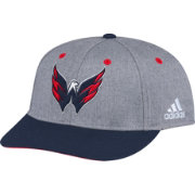 adidas Men's Washington Capitals Two-Tone Flat Brim Heather Grey/Navy Adjustable Hat