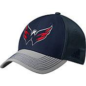 adidas Men's Washington Capitals Structured Navy Flex Hat