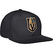 adidas Men's Vegas Golden Knights Flat Brim Black Snapback Adjustable Hat