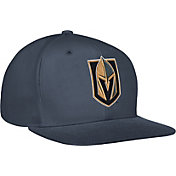 adidas Men's Vegas Golden Knights Flat Brim Grey Snapback Adjustable Hat