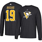 adidas Men's Pittsburgh Penguins Derrick Brassard #19 Black Long Sleeve Shirt
