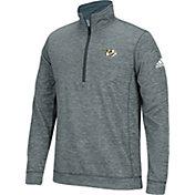adidas Men's Nashville Predators Logo Heather Grey Quarter-Zip
