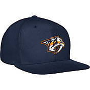 adidas Men's Nashville Predators Flat Brim Navy Snapback Adjustable Hat