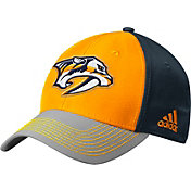 adidas Men's Nashville Predators Structured Yellow Flex Hat