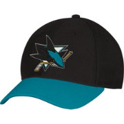 adidas Men's San Jose Sharks Two-Tone Structured Black/Teal Flex Hat