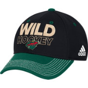 adidas Men's Minnesota Wild Locker Room Black Flex Hat