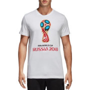 adidas Men's 2018 FIFA World Cup Emblem Graphic White T-Shirt