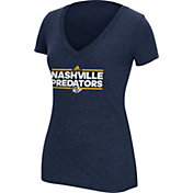 adidas Women's Nashville Predators Dassler Logo Navy Heathered T-Shirt