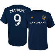 adidas Youth Los Angeles Galaxy Zlatan Ibrahimovic #9 Navy T-Shirt