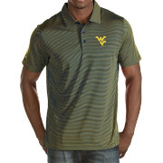 Antigua Men's West Virginia Mountaineers Blue/Gold Quest Performance Polo