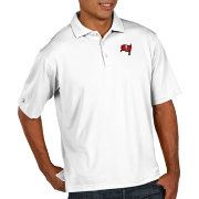 Antigua Men's Tampa Bay Buccaneers Pique Xtra-Lite Performance White Polo