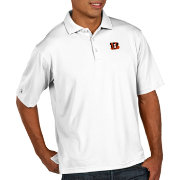Antigua Men's Cincinnati Bengals Pique Xtra-Lite Performance White Polo