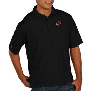 Antigua Men's Arizona Cardinals Pique Xtra-Lite Performance Black Polo