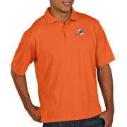 Antigua Men's Miami Dolphins Pique Xtra-Lite Performance Mango Polo
