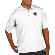 Antigua Men's Jacksonville Jaguars Pique Xtra-Lite Performance White Polo
