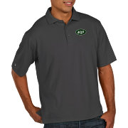 Antigua Men's New York Jets Pique Xtra-Lite Performance Smoke Polo