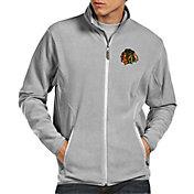 Antigua Men's Chicago Blackhawks Ice Grey Jacket
