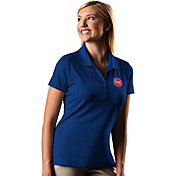 Antigua Women's Detroit Pistons Xtra-Lite Royal Pique Performance Polo