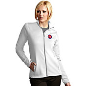 Antigua Women's Detroit Pistons Leader White Full-Zip Fleece