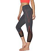 Betsey Johnson Women's Color Lined Mesh Insert Leggings