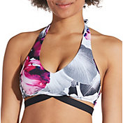 CALIA by Carrie Underwood Women's Pattern Halter Bikini Top
