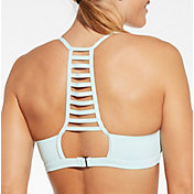 CALIA by Carrie Underwood Women's Solid Ladder Back Swim Top
