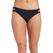 CALIA Women's Elastic Side Bikini Bottom