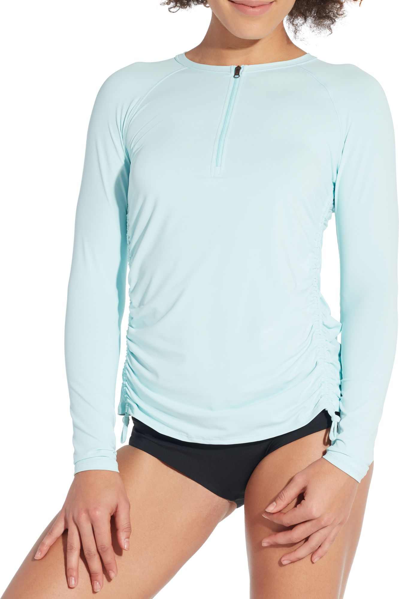Calia By Carrie Underwood Women's Long Sleeve Zip Up Rash Guard by Calia By Carrie Underwood