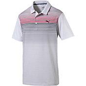 PUMA Men's Highlight Stripe Golf Polo