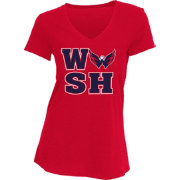 Concepts Sport Women's Washington Capitals WSH Red V-Neck T-Shirt