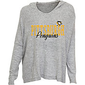 Concepts Sport Women's Pittsburgh Penguins Heather Grey Long Sleeve Hoodie Shirt