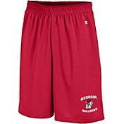 Champion Men's Georgia Bulldogs Red Mesh Performance Shorts